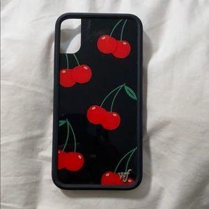 I phone X wildflower cherry case